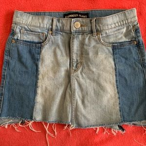 Denim Mini Skirt by Express Jeans - SZ 4